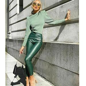 Zara faux leather leggings pants BLOGGERS FAVORITE